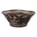 国産 手作り睡蓮鉢 益子焼 彩(SAI) 渦潮 炭化 直径約50cm ビオトープ 関東当日便