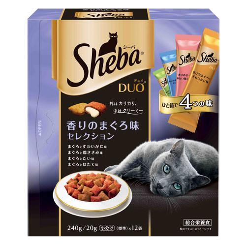 シーバデュオ 香りのまぐろ味セレクション 240g キャットフード シーバ 関東当日便
