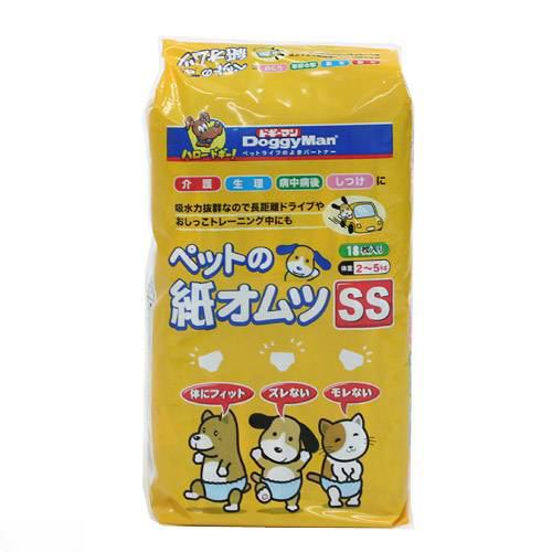 ドギーマン NEWペットの紙オムツSS 18枚入 犬 猫用紙おむつ おもらし ペット 関東当日便