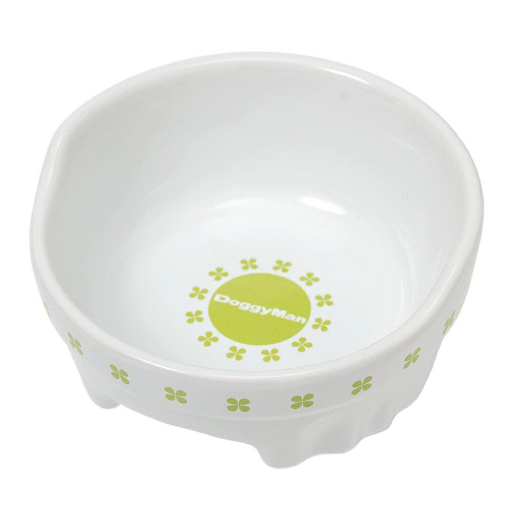ドギーマン すべり止め付 便利なクローバー陶製食器 S 関東当日便