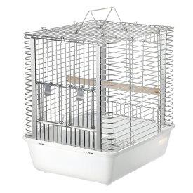 HOEI キャリーケージ ハートフルキャリー ホワイト(233×296×305) 鳥 ケージ 鳥かご キャリー 関東当日便