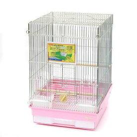 HOEI 35手のり 銀色メッキ (370×415×545) 底色:ピンク 鳥 ケージ 鳥かご 沖縄別途送料 関東当日便