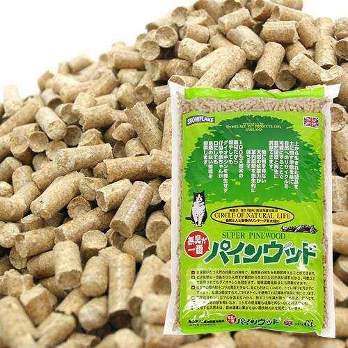 猫砂 パインウッド 6L 猫砂 針葉樹おがくず 流せる 燃やせる お一人様4点限り 関東当日便