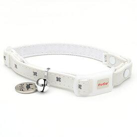 ペティオ キャットカラー クロスレザーカラー ホワイト 猫 首輪 カラー 関東当日便