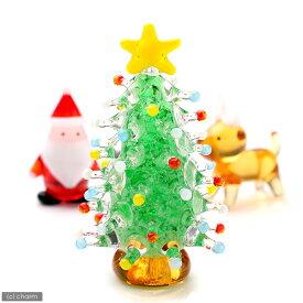 グラスコレクション 蓄光ドットツリー グリーン 1個 クリスマス 関東当日便