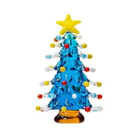 グラスコレクション ドットツリー ライトブルー 1個 クリスマス 関東当日便
