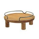 リッチェル ペット用 木製テーブル シングル ブラウン 犬用・猫用食器台 トレー 関東当日便