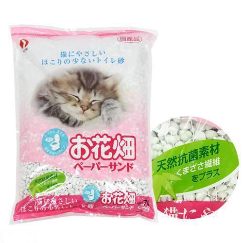 猫砂 お花畑 ペーパーサンド 7L 1箱6袋入り 猫砂 紙 流せる 燃やせる お一人様1点限り 関東当日便