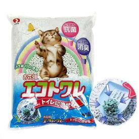 猫砂 お花畑 エコトワレ 8L 6袋入り お一人様1点限り 猫砂 紙 固まる 流せる 燃やせる 関東当日便