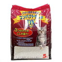 お一人様1点限り 箱売り 小さく固まる猫砂 コンパクトサンド DX 5L 1箱4袋入り 個口ごとに別途送料 猫砂 ベントナイト 関東当日便