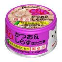 いなば CIAO(チャオ) ホワイティ かつお&しらす ほたて味 85g 24缶入り 関東当日便