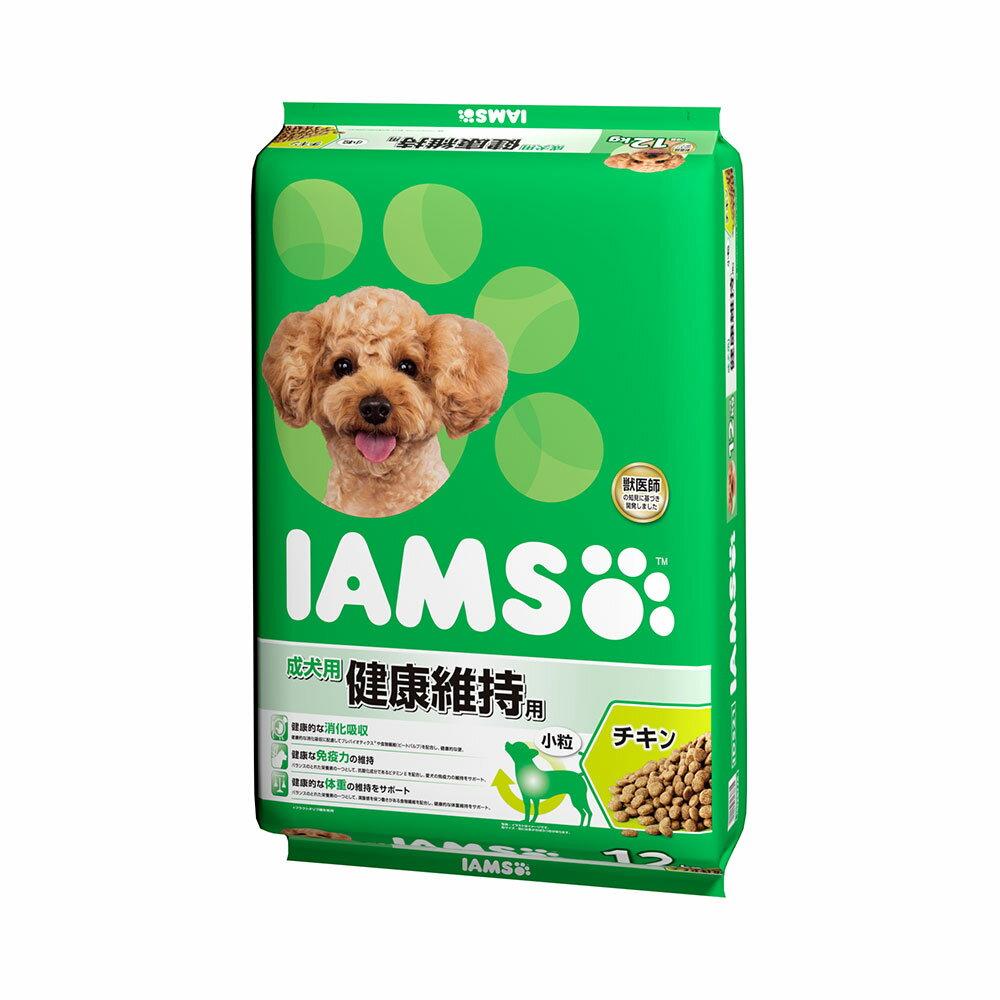 アイムス 成犬用 健康維持用 チキン 小粒 12kg 正規品 ドッグフード IAMS お一人様1点限り 関東当日便