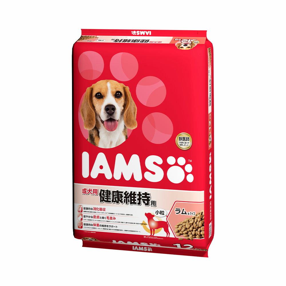 お一人様1点限り アイムス 成犬用 健康維持用 ラム&ライス 小粒 12kg 正規品 ドッグフード IAMS 関東当日便