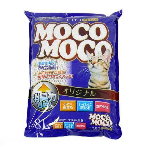 猫砂 クリーンミュウ モコモコオリジナル 8L 1箱6袋入り 猫砂 紙 固まる 流せる 燃やせる 関東当日便