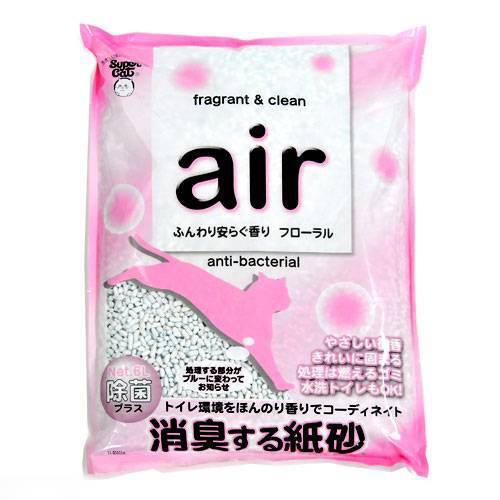 お一人様1点限り 箱売り スーパーキャット air消臭する紙砂 フローラル 6L 1箱6袋 猫砂 紙 関東当日便