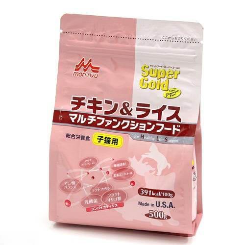 森乳 スーパーゴールド チキン&ライス 子猫用 500g キャットフード 関東当日便