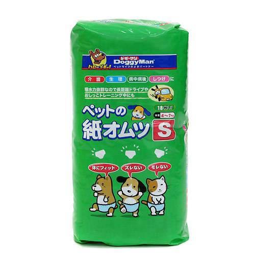 ドギーマン NEWペットの紙オムツS 18枚入 1箱8袋 おもらし ペット 関東当日便