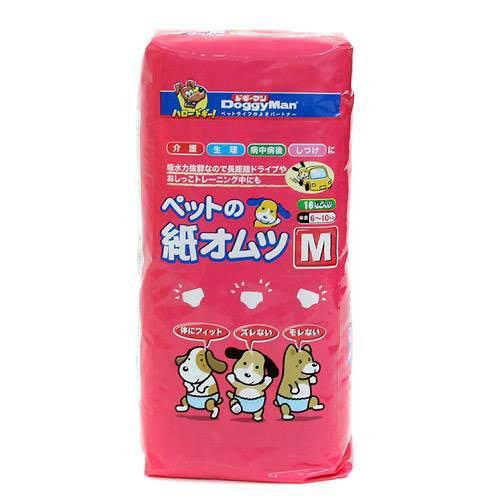 ドギーマン NEWペットの紙オムツM 16枚入 1箱8袋 おもらし ペット 関東当日便