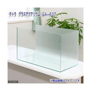 バックスクリーン貼付済 テトラ グラスアクアリウム GA−60T サンド(60×30×40cm)60cm水槽(単体) 沖縄別途送料 関東当日便