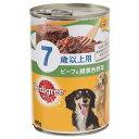 箱売り ぺディグリー 7歳からのしっかりカラダケア ヘルシービーフ&緑黄色野菜 400g 1箱24缶 高齢犬用 関東当日便