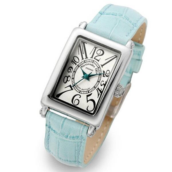 Alessandra Olla アレッサンドラオーラ 腕時計 AO-1500-18BL レディース レディース トノー型 ホワイト/ブルー 新品 人気【セール sale】【記念日】【ギフト】【ビジネス】【誕生日】 アレサンドラオーラ 時計