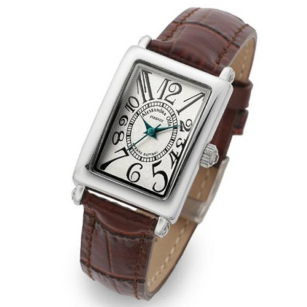 Alessandra Olla アレッサンドラオーラ 腕時計 AO-1500-18BR レディース レディース トノー型【セール sale】【記念日】【ギフト】【ビジネス】【誕生日】 アレサンドラオーラ 時計