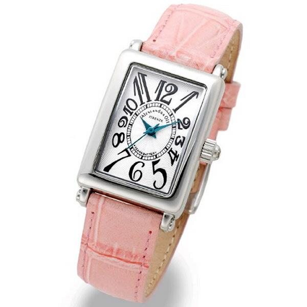 Alessandra Olla アレッサンドラオーラ 腕時計 AO-1500-18PK レディース レディース トノー型 ホワイト/ピンク 新品 人気【セール sale】【記念日】【ギフト】【ビジネス】【誕生日】 アレサンドラオーラ 時計
