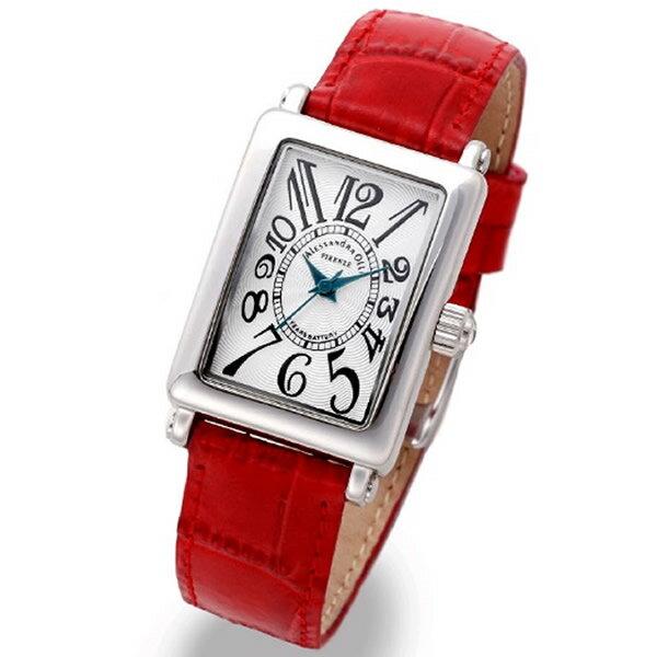 Alessandra Olla アレッサンドラオーラ 腕時計 AO-1500-18RE レディース レディース トノー型 ホワイト/レッド 新品 人気【セール sale】【記念日】【ギフト】【ビジネス】【誕生日】 アレサンドラオーラ 時計