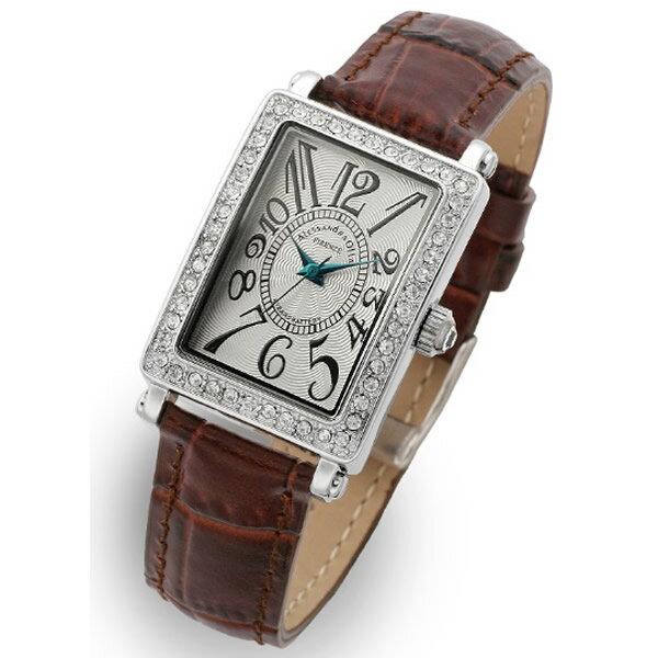 Alessandra Olla アレッサンドラオーラ 腕時計 AO-1500-1BR レディース スワロフスキー【セール sale】【記念日】【ギフト】【ビジネス】【誕生日】 アレサンドラオーラ 時計