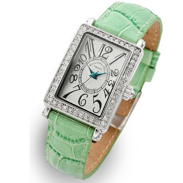Alessandra Olla アレッサンドラオーラ 腕時計 AO-1500-1GR レディース スワロフスキー【セール sale】【記念日】【ギフト】【ビジネス】【誕生日】 アレサンドラオーラ 時計