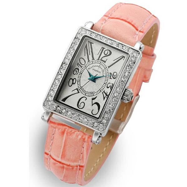 Alessandra Olla アレッサンドラオーラ 腕時計 AO-1500-1PK レディース 文字盤カラー シルバー ホワイト スワロフスキー 新品 人気 文字盤カラー ホワイト ピンク【セール sale】【記念日】【ギフト】【ビジネス】【誕生日】 アレサンドラオーラ 時計