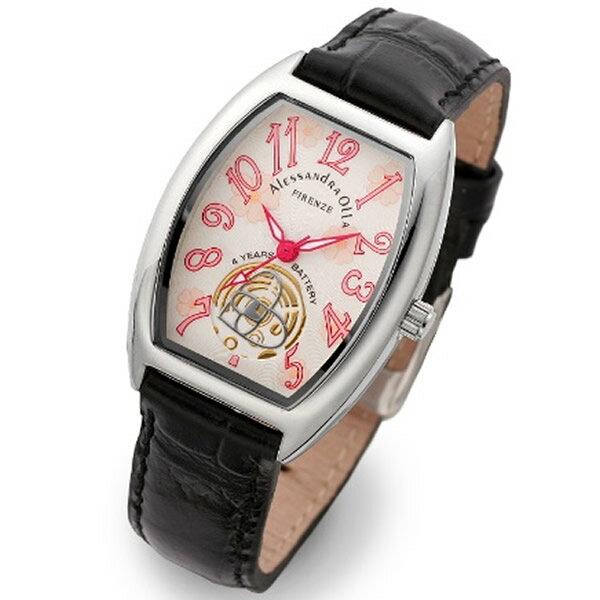 Alessandra Olla アレッサンドラオーラ 腕時計 AO-4850-BK レディース 桜柄【セレブ】【ギフト】【記念日】【ビジネス】【誕生日】 アレサンドラオーラ 時計