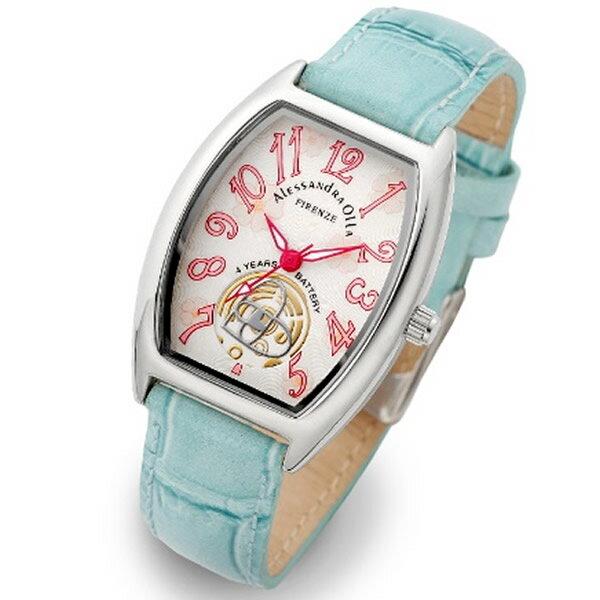 Alessandra Olla アレッサンドラオーラ 腕時計 AO-4850-BL レディース 桜柄【セレブ】【ギフト】【記念日】【ビジネス】【誕生日】 アレサンドラオーラ 時計
