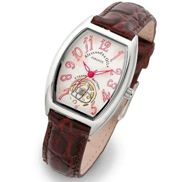 Alessandra Olla アレッサンドラオーラ 腕時計 AO-4850-BR レディース 桜柄【セレブ】【ギフト】【記念日】【ビジネス】【誕生日】 アレサンドラオーラ 時計