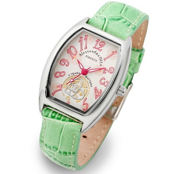 Alessandra Olla アレッサンドラオーラ 腕時計 AO-4850-GR レディース 桜柄【セレブ】【ギフト】【記念日】【ビジネス】【誕生日】 アレサンドラオーラ 時計