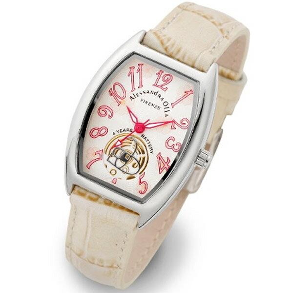 Alessandra Olla アレッサンドラオーラ 腕時計 AO-4850-IV レディース 桜柄【セレブ】【ギフト】【記念日】【ビジネス】【誕生日】 アレサンドラオーラ 時計