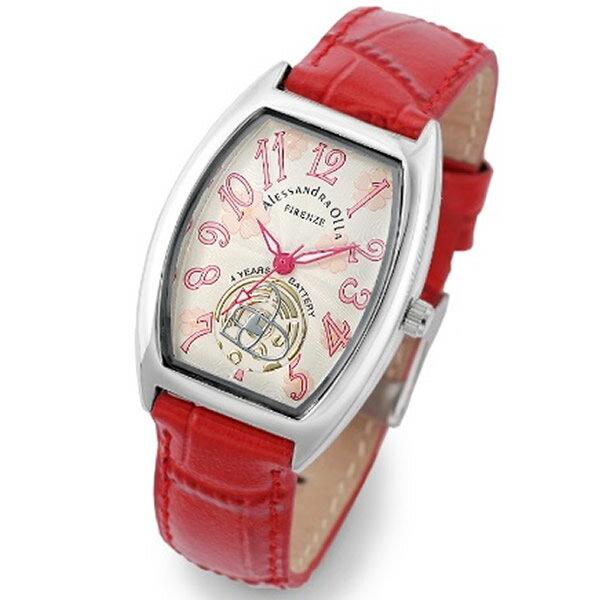Alessandra Olla アレッサンドラオーラ 腕時計 AO-4850-RE レディース 桜柄【セレブ】【ギフト】【記念日】【ビジネス】【誕生日】 アレサンドラオーラ 時計