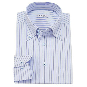 【アウトレット】【返品・交換不可】ビジネスシャツ ワイシャツ Yシャツ 長袖 カラーシャツ ダブルカラー ビジネス トップ芯加工 形態安定 襟高 カッターシャツ ドレスアップ 制服 学生服