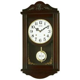 【正規品】RHYTHM リズム時計 クロック 4MJA01RH06 CITIZEN シチズン 掛時計 振り子時計 アタシュマンR