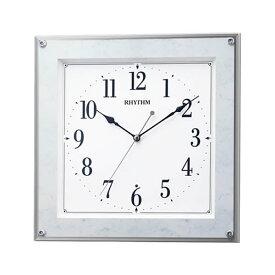【正規品】RHYTHM リズム時計 クロック 8MY550SR04 CITIZEN シチズン フィットウェーブミレディM550 スワロフスキークリスタル 電波時計 掛時計