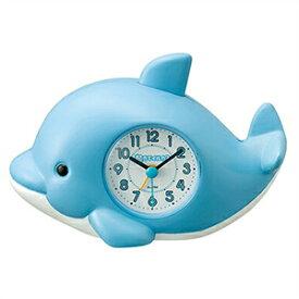 【正規品】リズム時計 クロック CITIZEN シチズン 4SE553SR04 目覚まし時計 起きてイルカ?SR