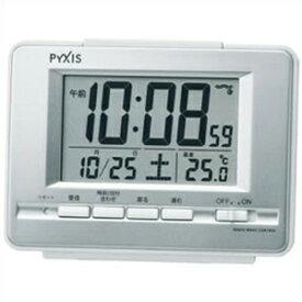 【正規品】SEIKO セイコー クロック NR535W 電波 目覚まし時計 置時計 PYXIS ピクシス