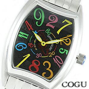 COGU コグ 腕時計 JH4M-BKC メンズ 男 【機械式(自動巻き)】【クレイジーアワー(ジャンピングアワー)】文字盤カラー ブラック シルバー【デザインウォッチ】