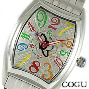 COGU コグ 腕時計 JH4M-WHC メンズ 男 【機械式(自動巻き)】【クレイジーアワー(ジャンピングアワー)】 文字盤カラー カラフル シルバー【デザインウォッチ】【セール sale】