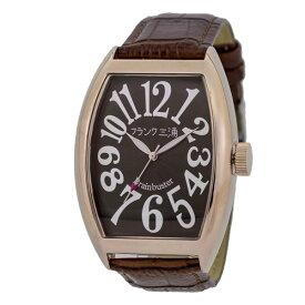 【国内正規品】FRANK三浦 フランク三浦 腕時計 FM06K-BRRG メンズ 六号機(改) マグナム ローズゴールドブラウン クオーツ