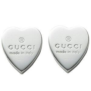 GUCCI グッチ 223990-J8400-8106 レディース ロゴ ハート スタッド ピアス