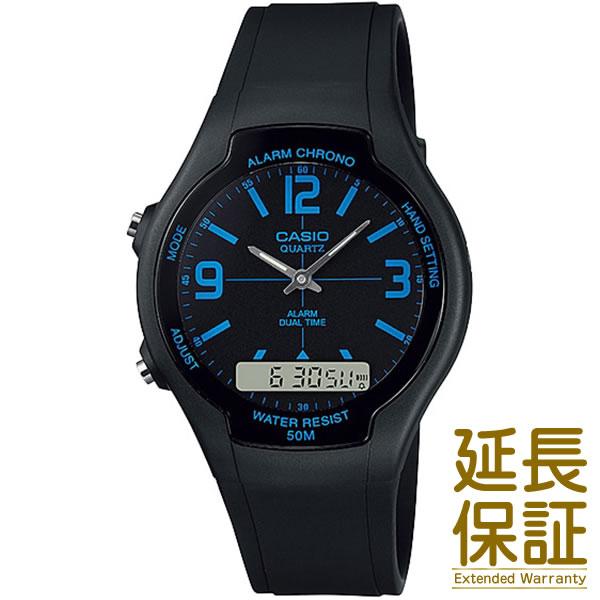 【箱無し】海外CASIO 海外カシオ 腕時計 AW-90H-2B メンズ BASIC ベーシック Analog Digital アナログ デジタル