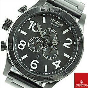 【並行輸入品】ニクソン NIXON 腕時計 A083 001 メンズ 51-30 フィフティーワンサーティー クロノグラフ ダイバーズウォッチ