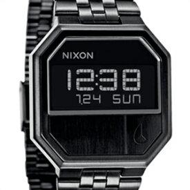 NIXON ニクソン 腕時計 A158 001 メンズ 男女兼用 RE-RUN リラン ALL BLACK デジタルウォッチ