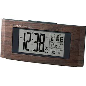 【正規品】NOA ノア精密 クロック T-743 BR-Z 置時計 電波時計 ウッドライン